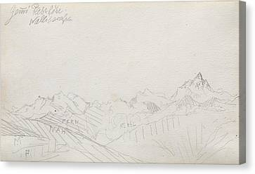 Gemmi Pass, Valais Alps Canvas Print by Paul Klee