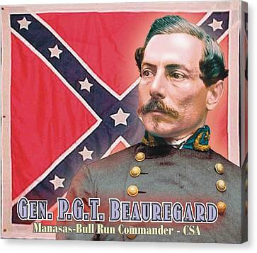 Gen. P.g.t. Beauregard Canvas Print