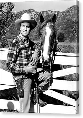 Gene Autry, Undated Canvas Print by Everett