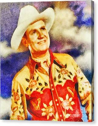 Gene Autry, Vintage Hollywood Legend Canvas Print