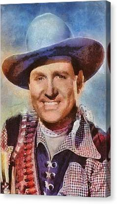 Mansfield Canvas Print - Gene Autry, Vintage Hollywood Western Legend by Mary Bassett