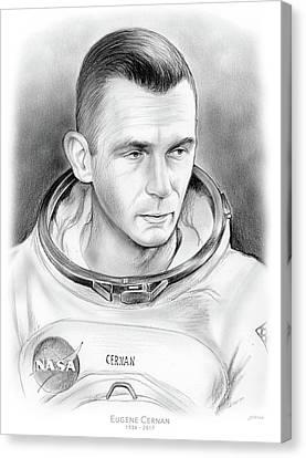 Astronaut Gene Cernan Canvas Print by Greg Joens