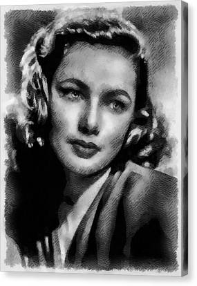 Gene Tierney Hollywood Actress Canvas Print by Frank Falcon