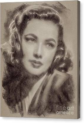 Gene Tierney Hollywood Actress Canvas Print by John Springfield