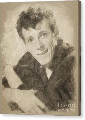 Gene Vincent, Music Legend By John Springfield Canvas Print by John Springfield