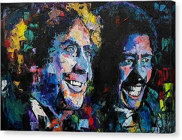 Canvas Print featuring the painting Gene Wilder And Richard Pryor by Richard Day