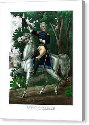General Andrew Jackson On Horseback Canvas Print by War Is Hell Store