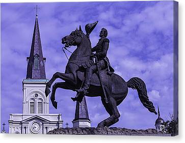 General Andrew Jackson Stature Canvas Print by Garry Gay