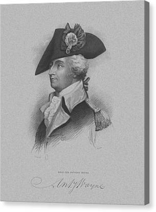 Canvas Print featuring the mixed media General Anthony Wayne by War Is Hell Store
