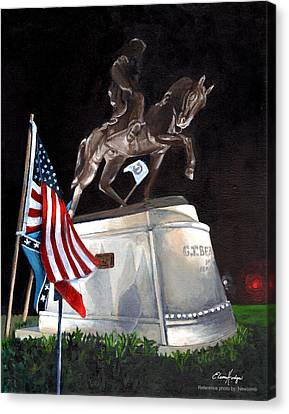 General Beauregard Monument Canvas Print