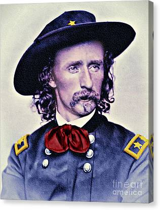General Custer Folk Hero Canvas Print