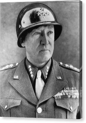 General George S. Patton Jr. 1885-1945 Canvas Print by Everett