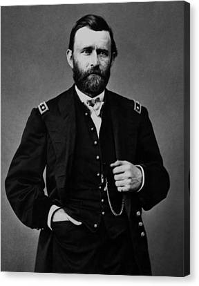 General Grant During The Civil War Canvas Print by War Is Hell Store