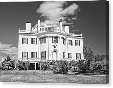 General Henry Knox Estate Thomaston Maine B And W Photo Canvas Print by Keith Webber Jr