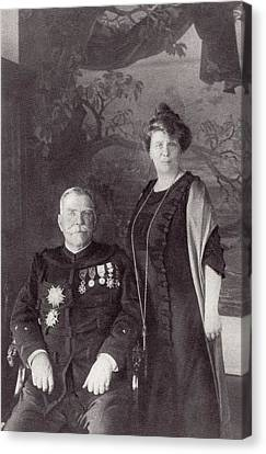 General Joffre And His Wife Madame Canvas Print by Vintage Design Pics