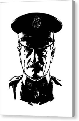 Ww1 Canvas Print - General John Pershing by War Is Hell Store