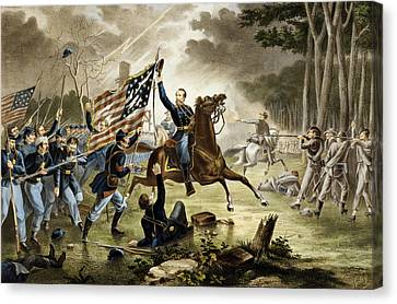 Virginia Canvas Print - General Kearney's Gallant Charge At The Battle Of Chantilly by Augustus Tholey