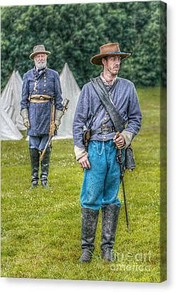 General Lee And Staff Officer Canvas Print by Randy Steele