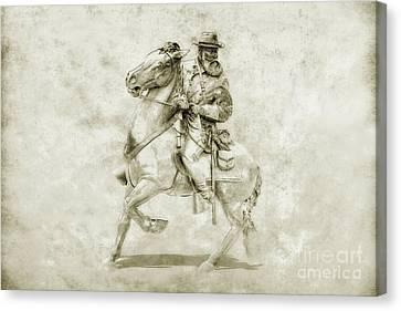General Longstreet At Gettysburg Canvas Print by Randy Steele