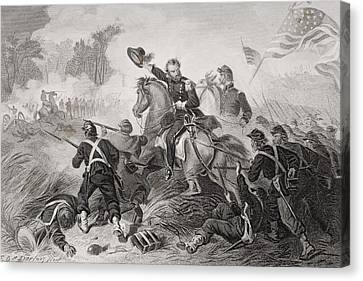 General Lyons Charge At The Battle Of Canvas Print by Vintage Design Pics