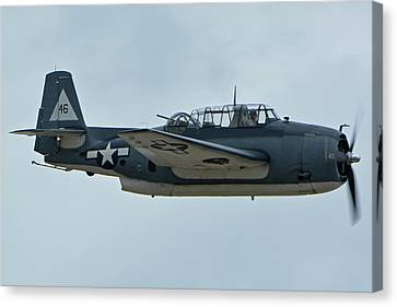 General Motors Tbm-3e Avenger Nx7835c Chino California April 30 2016 Canvas Print by Brian Lockett