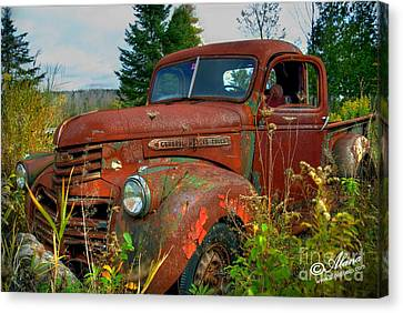 Canvas Print featuring the photograph General Motors Truck by Alana Ranney