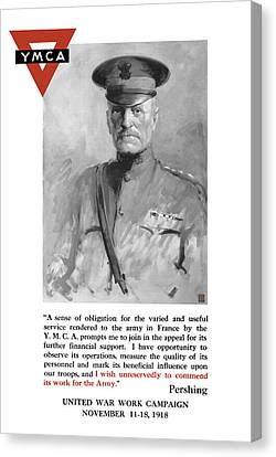General Pershing - United War Works Campaign Canvas Print by War Is Hell Store