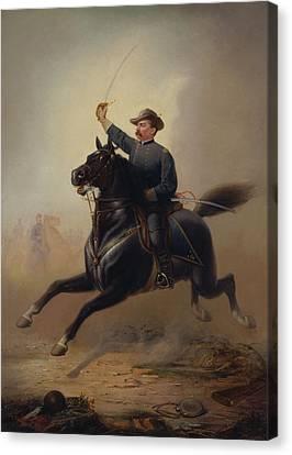 General Philip Sheridan's Ride - Thomas Buchanan Read Canvas Print by War Is Hell Store