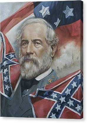General Robert E Lee Canvas Print by Linda Eades Blackburn