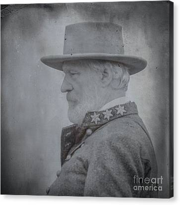 General Robert E Lee Portrait  Canvas Print by Randy Steele