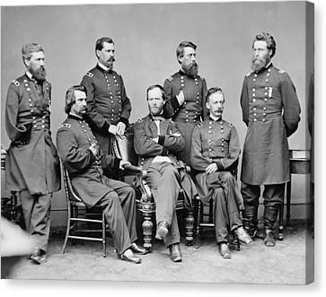 General Sherman And His Staff  Canvas Print by War Is Hell Store