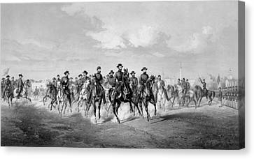 Warishellstore Canvas Print - General Sherman At Savannah Georgia by War Is Hell Store