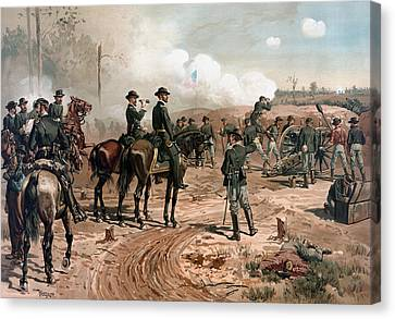 General Sherman Observing The Siege Of Atlanta Canvas Print by War Is Hell Store