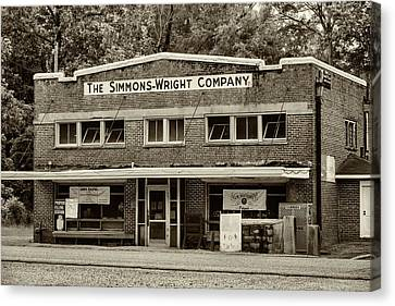 General Store - Vintage Sepia Canvas Print