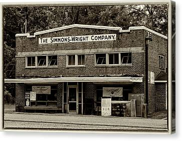 General Store - Vintage Sepia With Border Canvas Print