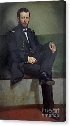 General Ulysses S Grant Canvas Print by George Peter Alexander Healy