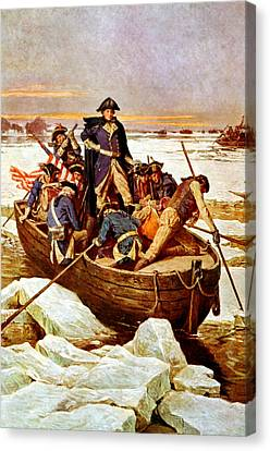 General Washington Crossing The Delaware River Canvas Print by War Is Hell Store
