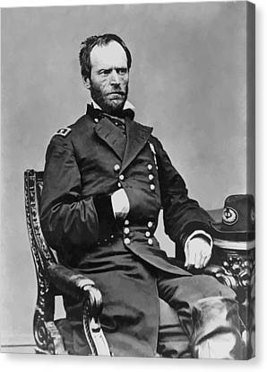 General William Sherman Canvas Print by War Is Hell Store