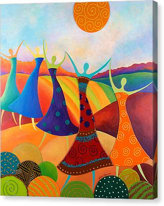 Generational Dance Canvas Print by Anne Nye