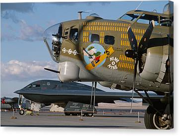 Generations B-17 And B-2 Canvas Print by John Clark