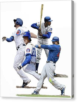 Bryant Canvas Print - Generations Cubs I  The Chicago Cubs by Iconic Images Art Gallery David Pucciarelli