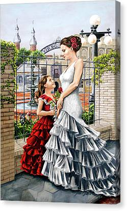 White Flamenco Canvas Print