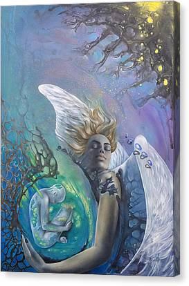 Genesis Canvas Print by D'Art Studio