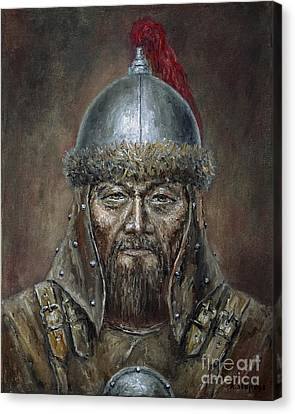 Genhis Khan Canvas Print by Arturas Slapsys