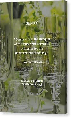 Genius Canvas Print by Warren Brown