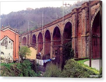 Genoa Canvas Print - Genoa Railroad Bridge by Al Blackford