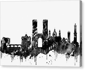 Genoa Canvas Print - Genoa Skyline by Erzebet S