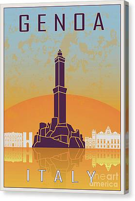 Genoa Vintage Poster Canvas Print by Pablo Romero