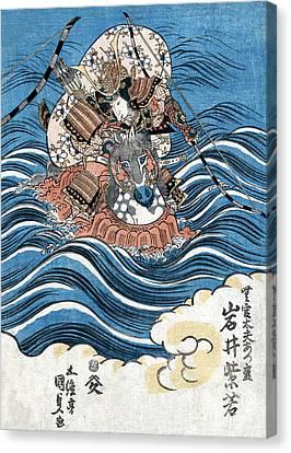 Chivalrous Canvas Print - Genpei War, Taira No Tomomori, 12th by Science Source