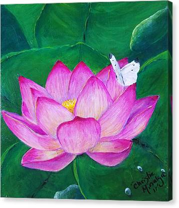 Canvas Print featuring the painting Gentle  by Christie Minalga